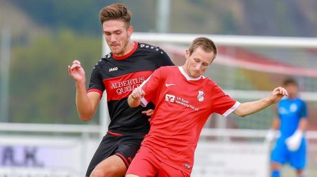 Wollen auch im Heimspiel gegen den SSV Alsmoos/Petersdorf für eine Überraschung sorgen: Tobias Kruber (rechts) und der FC Rennertshofen.