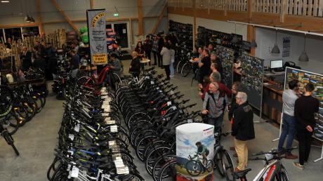 Blick ins Geschäft: Auf 600 Quadratmetern sollen sich Kunden künftig das ideale Fahrrad aussuchen können.