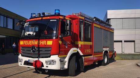Seit Mittwoch hat die Gundelfinger Feuerwehr ein neues Fahrzeug. Bürgermeisterin Miriam Gruß wünschte den Helfern trotzdem wenige Einsätze.