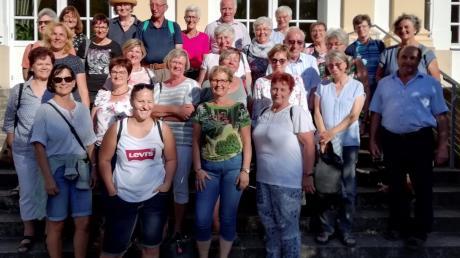 Die Teilnehmer am Ausflug des Eglinger Frauenbundes genossen den Spätsommer in Franken.