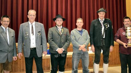 Von links: Karl Wanner, Michael Buhmann, Moritz Blaschke, Manfred Blank, Wolfgang Pfister und Thomas Sailer.