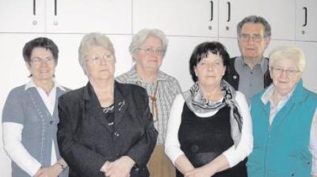 Die Vorstandschaft der Arbeiterwohlfahrt Binswangen wurde im Amt bestätigt (von links): Marlies Feistle, Christine Gassner, Gabriele Walz, Marianne Knittel, Kurt Gassner und Traudl Häggberg.
