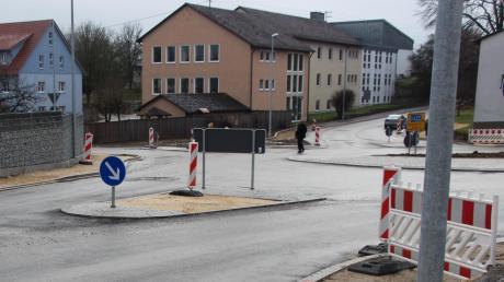 Noch ist nicht alles fertig: Viel Schotter zeigt sich in Zusamaltheim dem Betrachter, auch die Straßen haben noch keine Deckschicht erhalten.