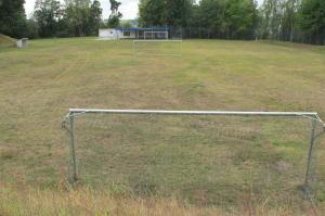Ein Fußballplatz, der nicht mehr gebraucht wird