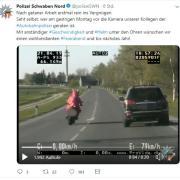 Polizei filmt Osterhase