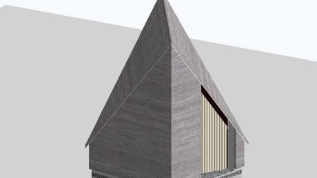 Dieses Modell zeigt, wie die geplante Wegkapelle der Denzel-Stiftung am Radweg von Oberbechingen nach Wittislingen einmal aussehen soll.