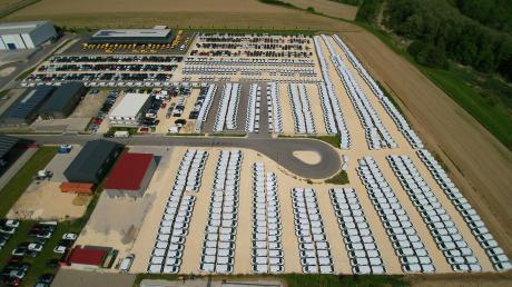 Autos, so weit das Auge reicht: Eine Menge Wagen hat das Autohaus Baumgärtner auf den Stellflächen im Dillinger Osten geparkt. Etwa 20.000 Autos verkauft das Unternehmen jährlich in ganz Europa.