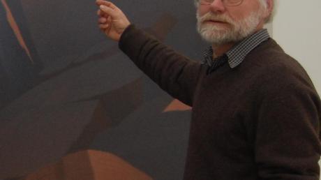 Hartmut Pfeuffer, als er 2010 in Höch-städt ausstellte.