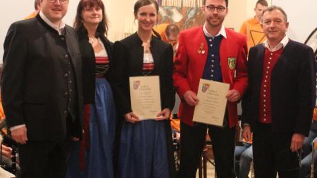 Der Musikverein Binswangen ehrte Mitglieder für 25 Jahre Musizieren.