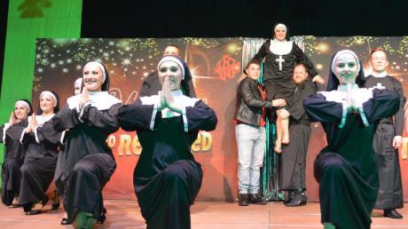 """Verzauberten das Publikum mit Musicalnummern wie """"Sister Act"""", die Lechana aus Gersthofen"""