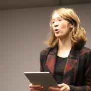 Auch die Landesvorsitzenden der Grünen, Eva Lettenbauer, sprach bei der Veranstaltung in Wertingen.