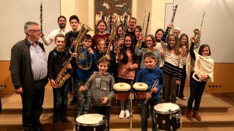 Den jungen Musikanten in der Binswanger Synagoge merkt man die Freude an der Musik immer an.