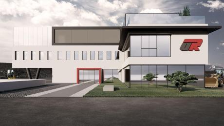 Das Firmengebäude von Ulrich Reitenberger Bau im Laugnaer Ortsteil Asbach soll aufgestockt werden. Der Gemeinderat freute sich darüber, dass das Unternehmer dem Standort treu bleibt.
