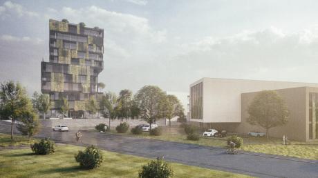 Ulrich Reitenberger will beim Wertinger Krankenhaus ein Ärztehaus in Form eines Turms bauen.