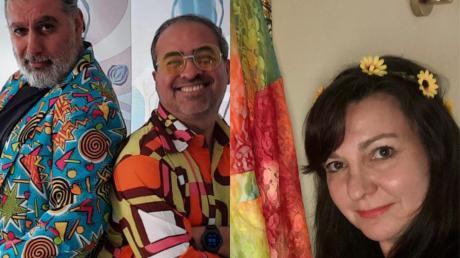Yasar Dogan aus Zusamaltheim, DJ Ufuk und UOK-Vizepräsidentin Marion Buk-Kluger freuen sich auf den virtuellen Glumperten Donnerstag.