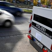 So ähnlich sieht der Blitzer-Anhänger aus, der kürzlich auch in der Augsburger Straße in Wertingen das Tempo der Autofahrer kontrollierte.