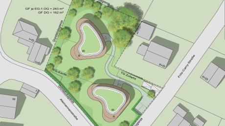 Dieser Plan verdeutlicht, wie die beiden geplanten ovalen Wohnhäuser in der Alemannenstraße einmal aussehen könnten. Nun werden sich die Fachbehörden mit diesem Entwurf auseinandersetzen.