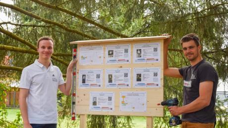 Daniel Neubauer (links) und Michael Kehl freuen sich, dass sie den Mitgliedern des TSV Buttenwiesen und allen, die Lust haben mitzumachen, einen Trainingsparcours bieten können.