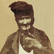 """Das Bild zeigt den Wertinger Nachtwächter Martin Meitinger, genannt """"Hohle Märtl"""" (1881)."""