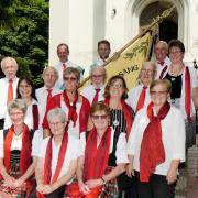 Das Bild entstand 2017 nach einer Messe in der Kirche. Am kommenden Samstag feiert der Gesangverein Roggden sein 100. Jubiläum.