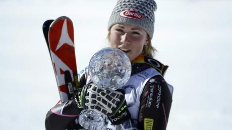 Mikaela Shiffrin aus den USA sicherte sich die Slalom-Kristallkugel.