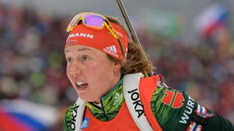 Laura Dahlmeier wurde für den Massenstart geschont und lief keine Mixed-Staffel. Foto:Matthias Balk