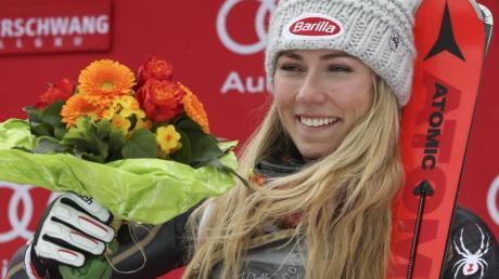 Hatte in Ofterschwang mehrfach Grund zum Feiern: Skistar Mikaela Shiffrin.