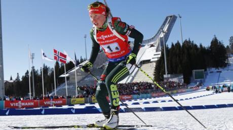 Laura Dahlmeier war die Schlussläuferin der deutschen Staffel. Foto: Heiko Junge/NTB scanpix