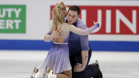 Aljona Savchenko und Bruno Massot gewannen Olympia-Gold im Paarlauf.