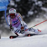 Stefan Luitz rast den Berg hinunter. Foto: John Locher/AP