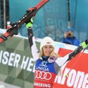 Mit 36 Siegen hat Mikaela Shiffrin aus den USA ihr Kindheitsidol Marlies Raich übertroffen. Foto:Roland Schlager/APA