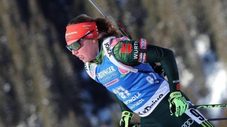 Bereitet sich auf die WM in Schweden vor: Biathlon-Ass Laura Dahlmeier. Foto: Andrea Solero/ANSA
