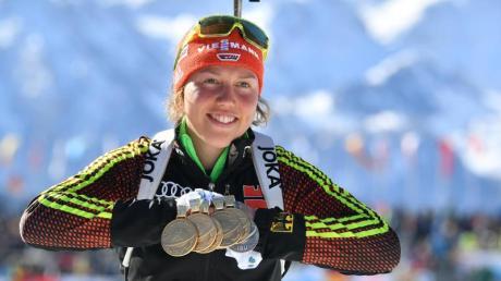 Auf Laura Dahlmeier ruhen viele Medaillenhoffnungen.