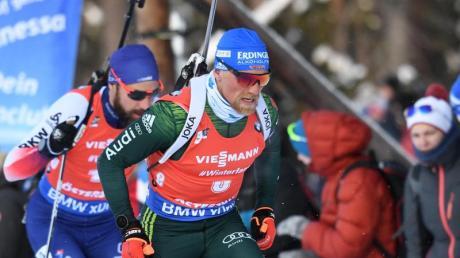Erik Lesser beim Verfolgungsrennen in Östersund.