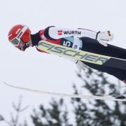 Markus Eisenbichler wurde in der Qualifikation zum Skifliegen in Vikersund Dritter. Foto: Bendiksby, Terje/NTB scanpix