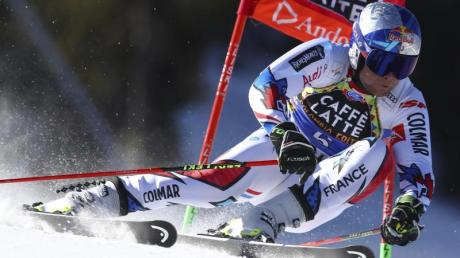 Der Franzose Alexis Pinturault in Aktion beim letzten Riesenslalom der Saison.