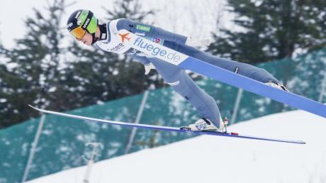 Skispringer Markus Eisenbichler aus Deutschland fliegt auf Rang fünf. Foto: Bendiksby, Terje/NTB scanpix