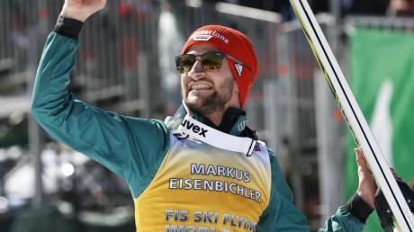 Bester deutscher DSV-Adler der Saison: Markus Eisenbichler. Foto: Darko Bandic/AP