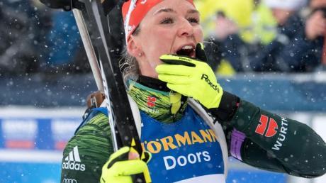 Der Spaß stand für Biathletin Denise Herrmann bei ihrer Langlauf-Rückkehr an erster Stelle. Foto (Archiv): Sven Hoppe/dpa Foto: Sven Hoppe