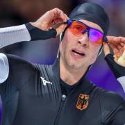 Aktivensprecher der deutschen Eisschnellläufer: Moritz Geisreiter. Foto: Peter Kneffel