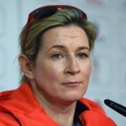 Claudia Pechstein kritisiert den DESG-Aktivensprecher Geisreiter. Foto: Hendrik Schmidt/ZB