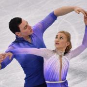 Aljona Savchenko mit Partner Bruno Massot. Foto: Peter Kneffel