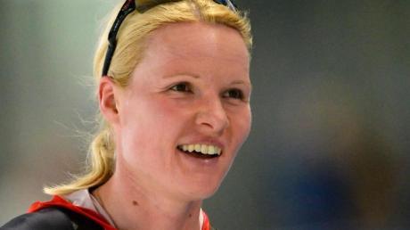 Stephanie Beckert beendet ihre Karriere als Eisschnellläuferin. Foto (Archiv): Soeren Stache/