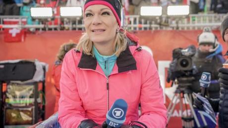 Hört nach fünf Jahren als Alpin-Expertin der ARD auf: Maria Höfl-Riesch.