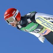Skispringer Markus Eisenbichler in Aktion. Foto: Darko Bandic/AP