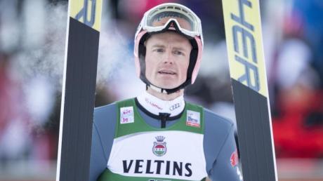Skispringer Severin Freund fehlte lange wegen einer Verletzung. Foto: Urs Flueeler/KEYSTONE/dpa