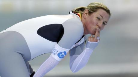Über 3000 Meter in Minsk schnellste Deutsche: Claudia Pechstein. Foto: Rick Bowmer/AP/dpa