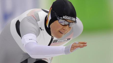 Claudia Pechstein hat mit einem sechsten Platz im Massenstartrennen das beste Saison-Resultat der deutschen Eisschnellläufer geschafft.