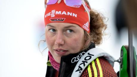 Ist auch nach dem Ende ihrer Karriere noch an Biathlon interessiert: Laura Dahlmeier.