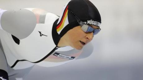 Claudia Pechstein wurde in Nur-Sultan Neunte über 5000 Meter.